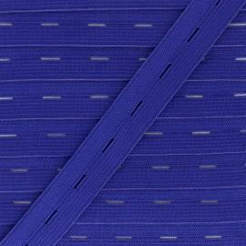 Elastique Boutonnière 20 mm - Bleu Roi x 1m