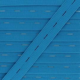 Elastique Boutonnière 20 mm - Bleu x 1m