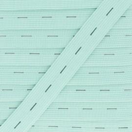 Elastique Boutonnière 20 mm - Vert Amande x 1m