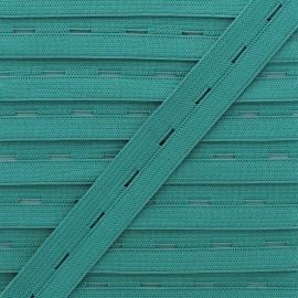 20 mm Elastic Buttonhole - Lagoon x 1m