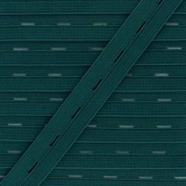 Elastique Boutonnière 20 mm - Vert Pin x 1m