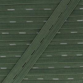 Elastique Boutonnière 20 mm - Vert Mousse x 1m