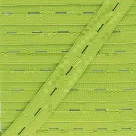 Elastique Boutonnière 20 mm - Vert Anis x 1m