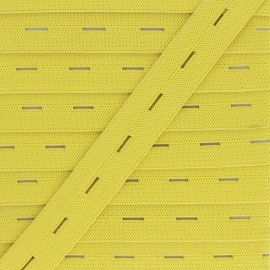 20 mm Elastic Buttonhole - Yellow x 1m