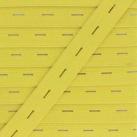 Elastique Boutonnière 20 mm - Jaune Citron x 1m