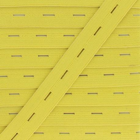 Elastique Boutonnière 20 mm - Jaune x 1m