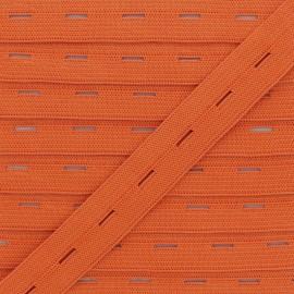 Elastique Boutonnière 20 mm - Citrouille x 1m