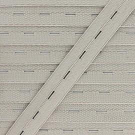 20 mm Elastic Buttonhole - Beige x 1m