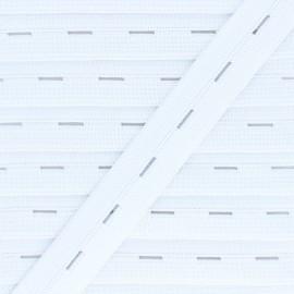 Elastique Boutonnière 20 mm - Blanc x 1m