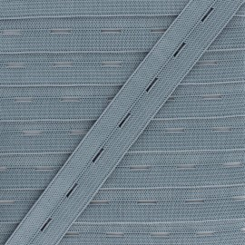 20 mm Elastic Buttonhole - Grey x 1m