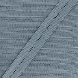Elastique Boutonnière 20 mm - Gris x 1m