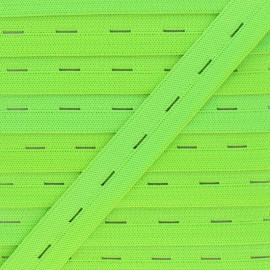 20 mm Elastic Buttonhole - Neon Green x 1m
