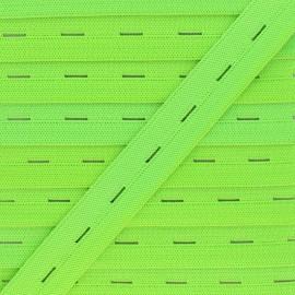 Elastique Boutonnière 20 mm - Vert Fluo x 1m