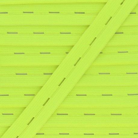 Elastique Boutonnière 20 mm - Jaune Fluo x 1m