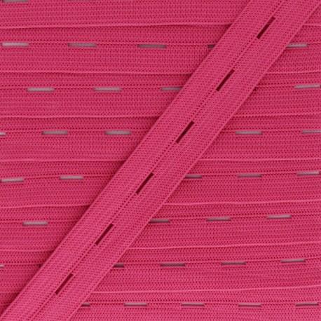 20 mm Elastic Buttonhole - Fuchsia x 1m