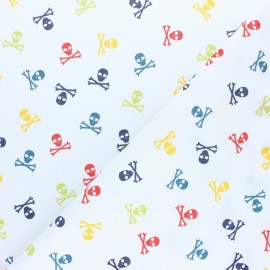 Poplin fabric - White Mini Ladybug x 10cm