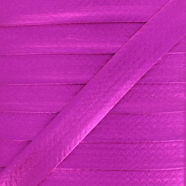 20 mm Metallic Faux Leather Bias Binding - Fuchsia Rock Me x 1m