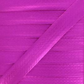20 mm Metallic Faux Leather Bias Binding - Fuchsia Rock Me x 1m