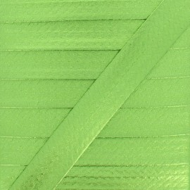 20 mm Metallic Faux Leather Bias Binding - Anise Green Rock Me x 1m