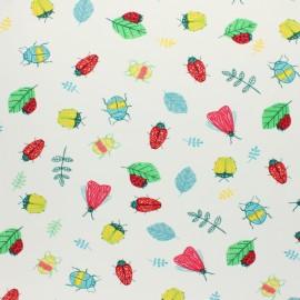 Tissu jersey Summer fruit - blanc x 10cm