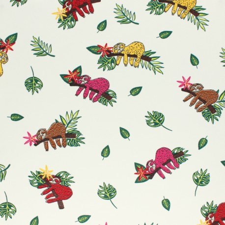 Cotton Jersey fabric - raw Sketchy Bugs x 10cm