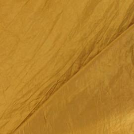 Tissu taffetas uni ocre jaune x 10cm