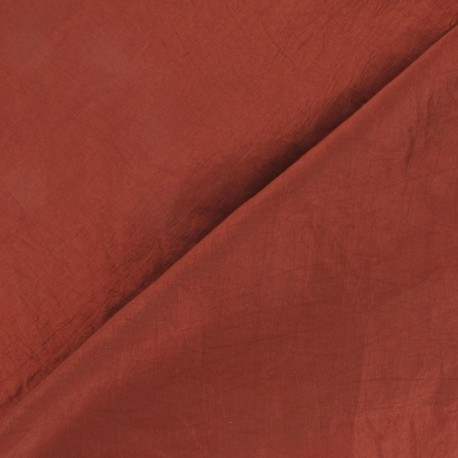 Taffeta Fabric - Rust x 10cm