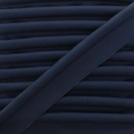 Passepoil Simili Cuir Lisse XL - Bleu Marine x 1m