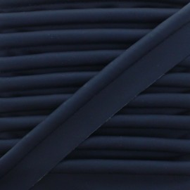 XL Smooth Faux Leather Piping - Navy Blue x 1m