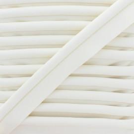 Passepoil Simili Cuir Lisse XL - Blanc Cassé x 1m