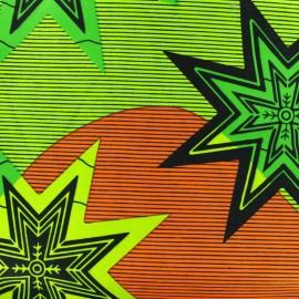 Wax print fabric - Alanta green/purple x 10cm