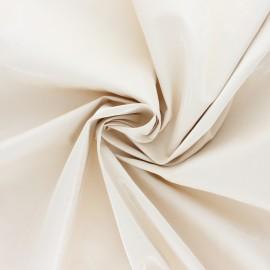 Tissu vinyl froissé brillant - écru x 10cm