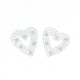 Hotfix Iron On Rhinestone - Heart Orient Jewel