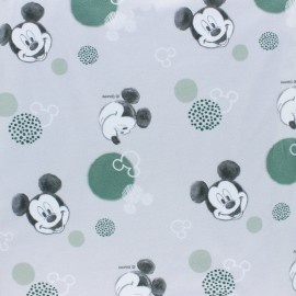 Cotton jersey fabric - grey Mickey x 10cm