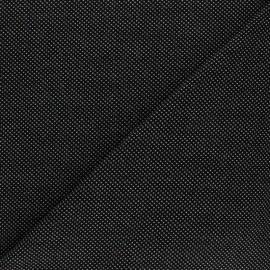 Stitched cotton fabric -  Black Mini dot x 10cm
