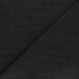 Tissu piqué de coton Mini-pois - noir x 10cm