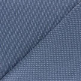 Tissu piqué de coton Mini-pois - bleu x 10cm