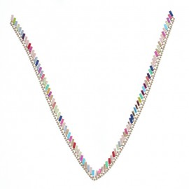 Hotfix Collar Jewel - Colorful Jewels