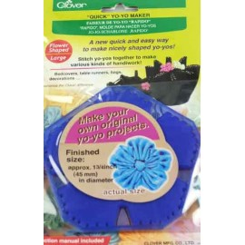Yo-yo maker 45 mm, flower-shaped - blue