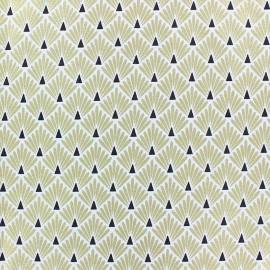Coated cretonne cotton Fabric Ecailles - Terracotta x 10cm