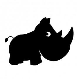 Ardoise Adhésive Murale - Rhinocéros