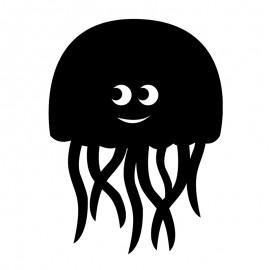 Chalkboard Wall Sticker - Jellyfish