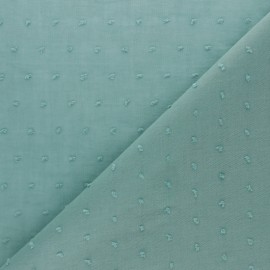 Plumetis Cotton voile Fabric - Sauge Green Bianca x 10cm