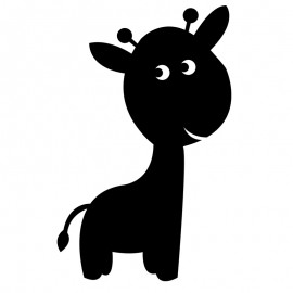 Chalkboard Wall Sticker - Giraffe