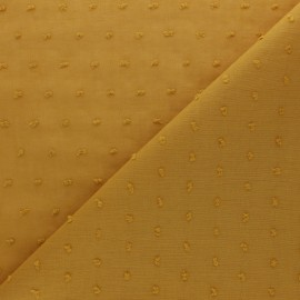 Plumetis Cotton voile Fabric - mustard yellow Bianca x 10cm