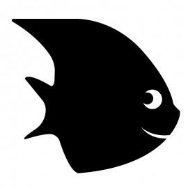 Chalkboard Wall Sticker - Fish
