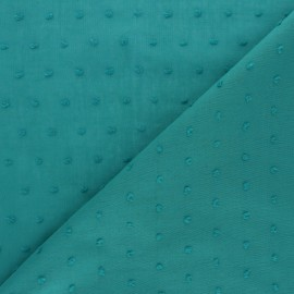 Plumetis Cotton voile Fabric - Emerald Green Bianca x 10cm
