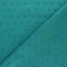 Tissu voile de coton Plumetis Bianca - vert sauge x 10cm