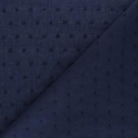 Tissu voile de coton Plumetis Bianca - bleu ciel x 10cm