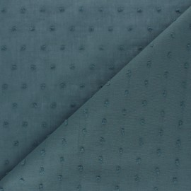 Plumetis Cotton voile Fabric - light blue Bianca x 10cm